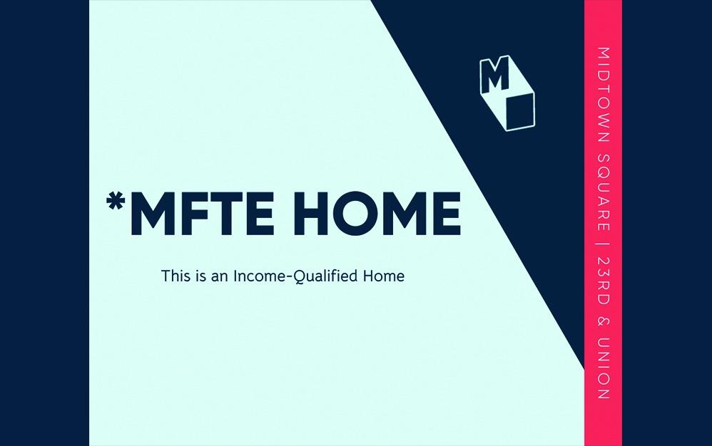 Studio - MFTE - Studio floorplan layout with 1 bath and 447 to 536 square feet.