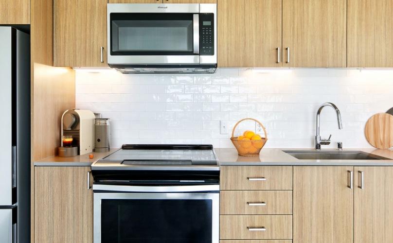 bright kitchen with under cabinet lighting